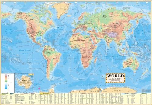 World Physical Map Manufacturer, World Physical Map Supplier, Delhi(NCR)