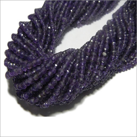 13 inche Amethyst Faceted Rondelle 3-4mm Beads 10 Strands