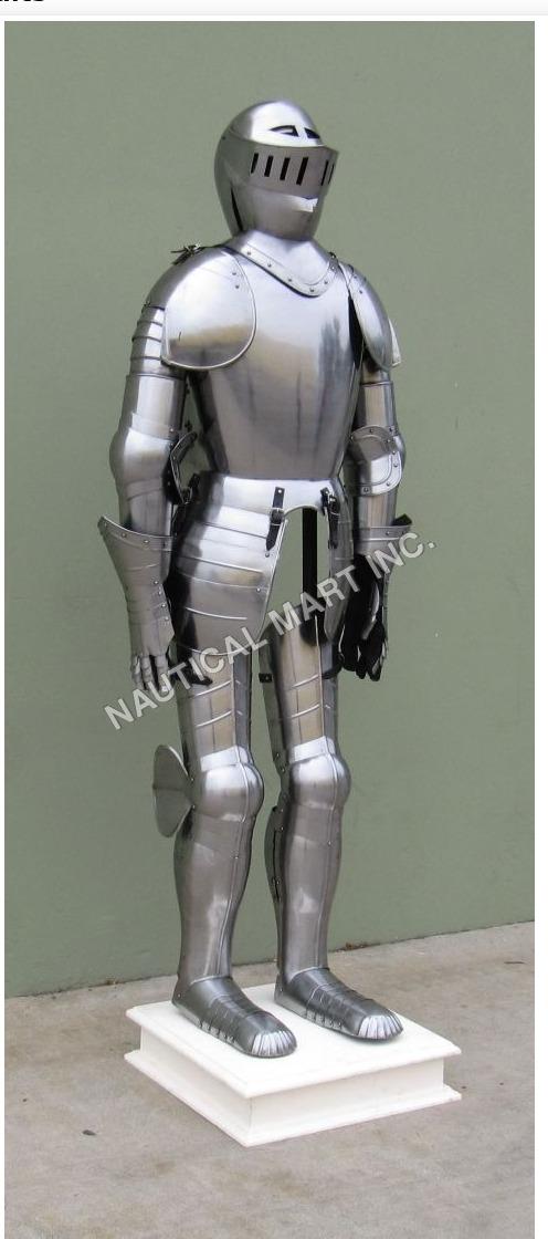Stainless Steel Duke of Burgundy Full Armor Suit