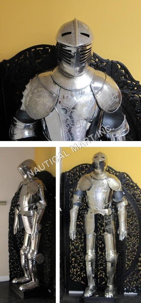 Full Suit Of Armour Etched