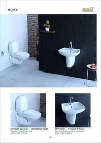 white bathroom suites
