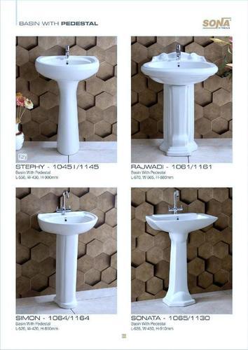 vintage pedestal basin