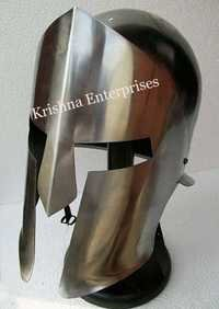 War Medieval Helmet With Stand