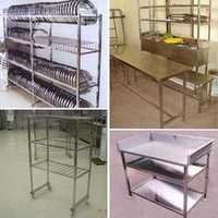 Kitchen Work Tables, Racks & Trolleys