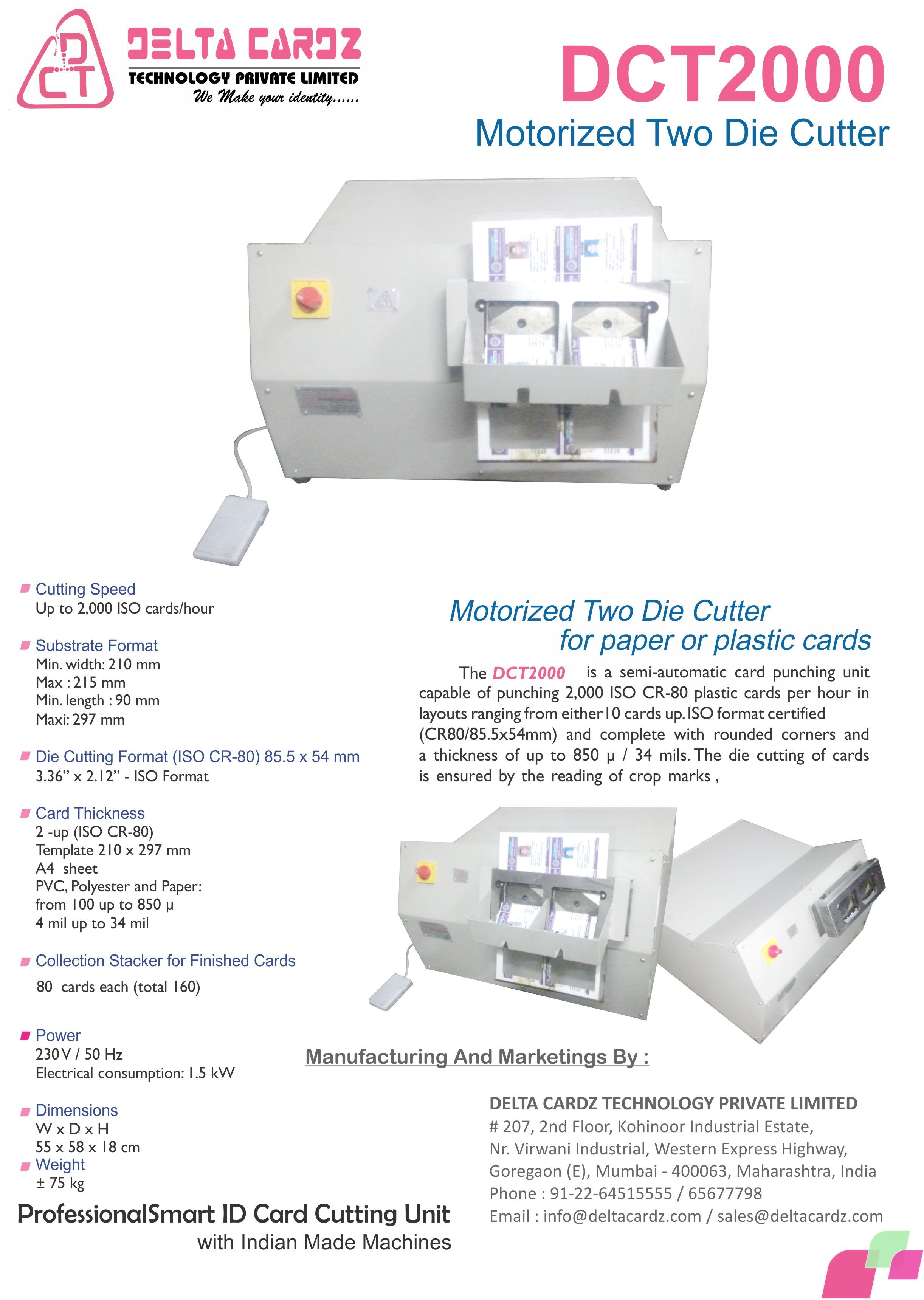 Automatic electric dual die id card cutter manufacturer supplier automatic electric dual die id card cutter reheart Image collections