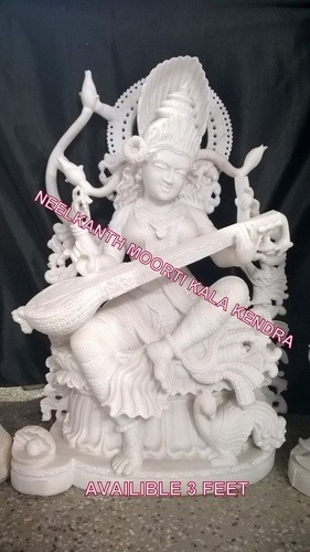 Marble Saraswati  Statue