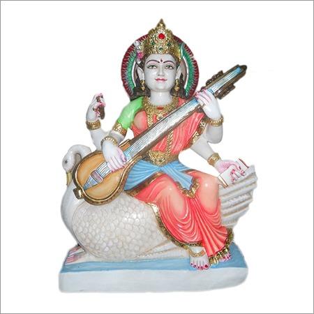 Saraswati veena wahine marble statue