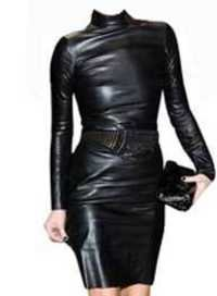 Celebrity Leather Dress