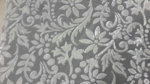 White Velvet Brasso Fabrics