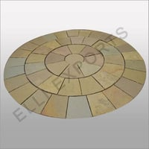 Circle Of Kota Brown Limestone