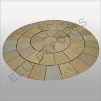 Circle Of Kota Brown Limestone