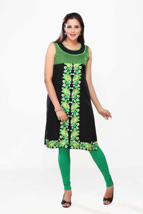 Green Front Kurti