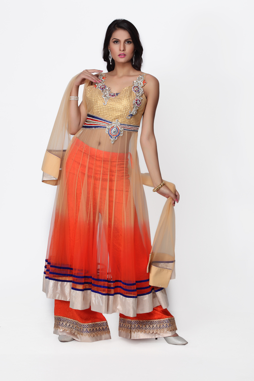 Orange Salwar Kameez