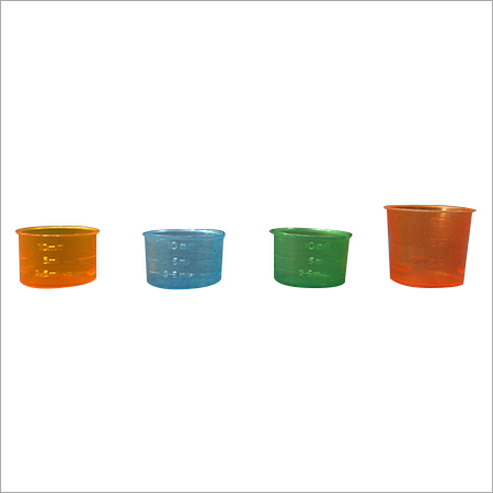 Colored Pharma Measuring Cups