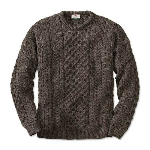 Round Neck Mens Cardigan