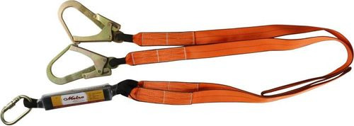 Forked Lanyard With Energy Absorber