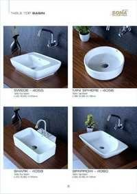 round table top basin