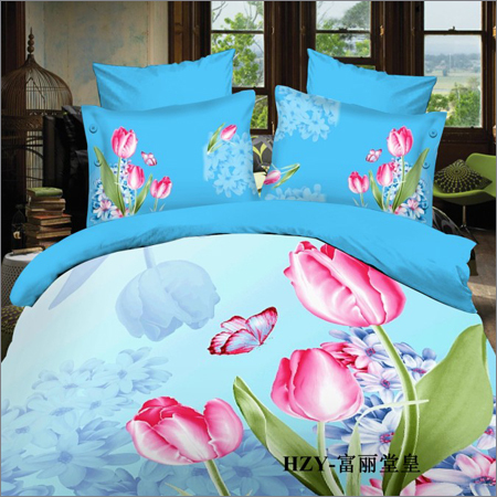 Printed Flower Bed Sheet