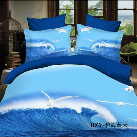 Printed Colored Bed Sheets