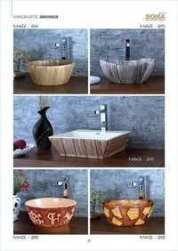 coloured wash basin