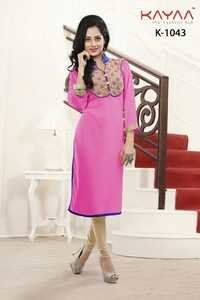 Designer Pink Color Long Kurti