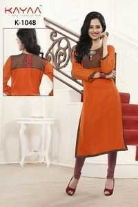 Orange Color Georgette Kurti