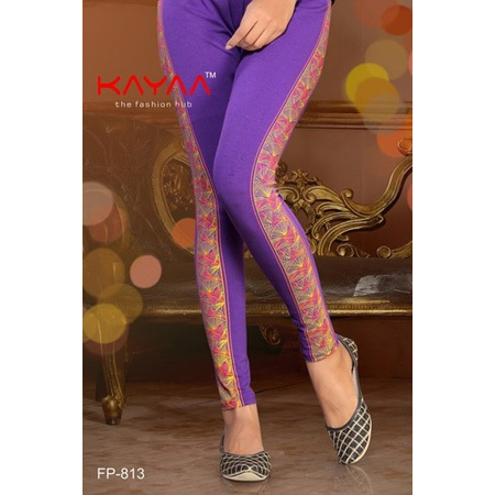 BLUE COLOR LINING SIDE PRINT LEGGING