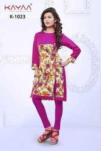 Bhagoli Pink Long Kurti