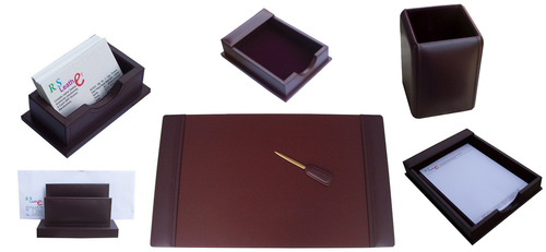 desk sets.leather desk pad sets