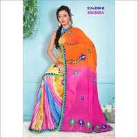 Printed Embroidered Sarees