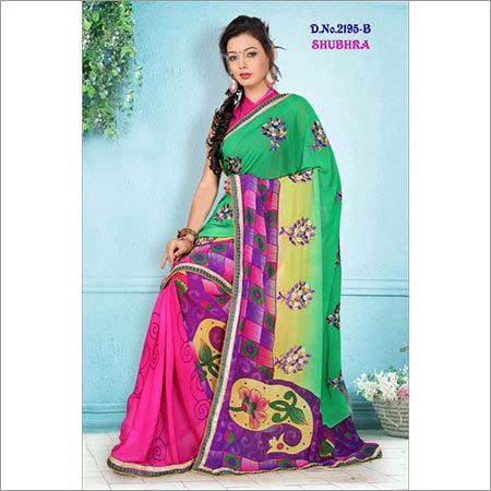 Ethnic Embroidery Saree