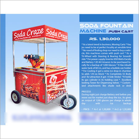 Push Cart Soda Machine