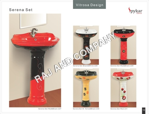 Printed Vitrosa Wash Basin