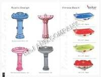 Coloured Pedestal Basins