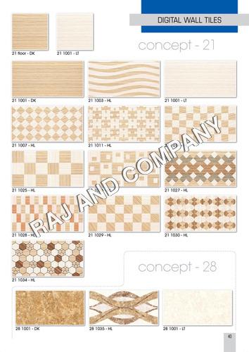 Digital Mosaic Wall Tiles