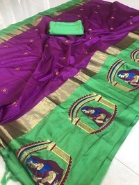 Designer Elegent Cotton Silk Saree