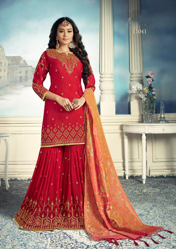 Stylish Wedding wear Embroidered Georgette Sharara Collection