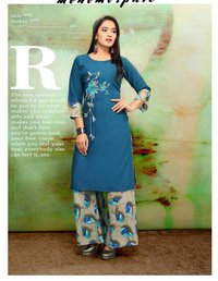 Trendy Rayon Printed Kurta Palazo Collection