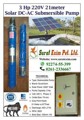 3Hp Solar Agriculture Pump Sets