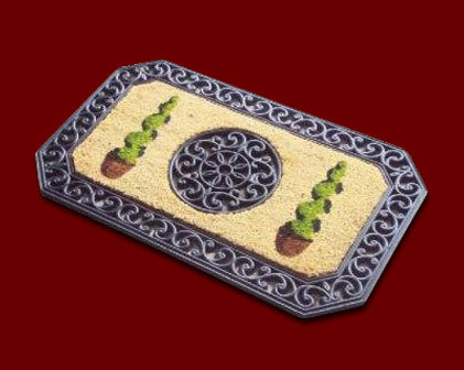 Rubber Mat With PVC Inlay