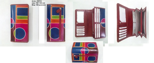 Shanti Leather Hand-printed Wallet