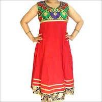 Designer Embroidery Simra Cotton Anarkali