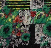 Flower Printed Georgette Fabric