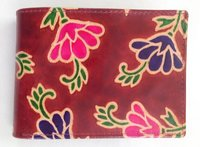 Hand-printed Leather Wallet