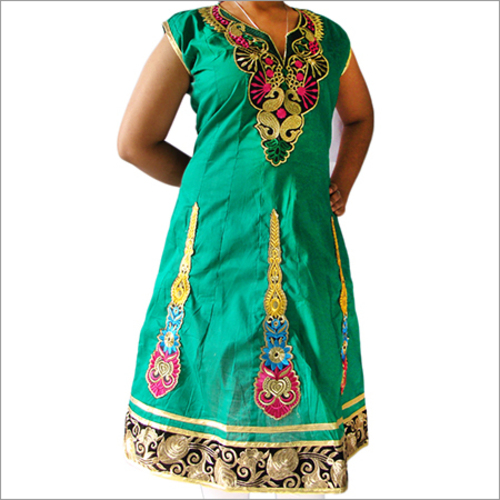 Designer Embroidery Ermina Cotton Anarkali