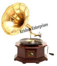 Brass Nautical Gramophone