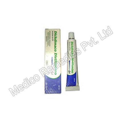 Diclofenac Dietilamino Cream Application: Used To Relieve Pain Associated