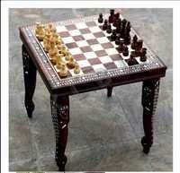 CHESS TABLE WITHOUT DRAWER