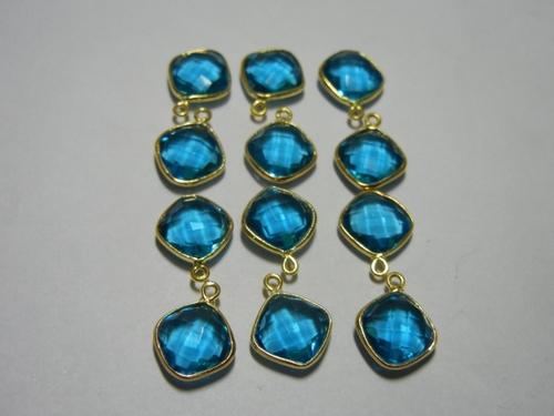 L.B.T Quartz Bezel Set Gemstone Connector