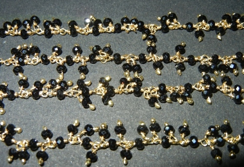 Black Onyx Glass Bead Chain